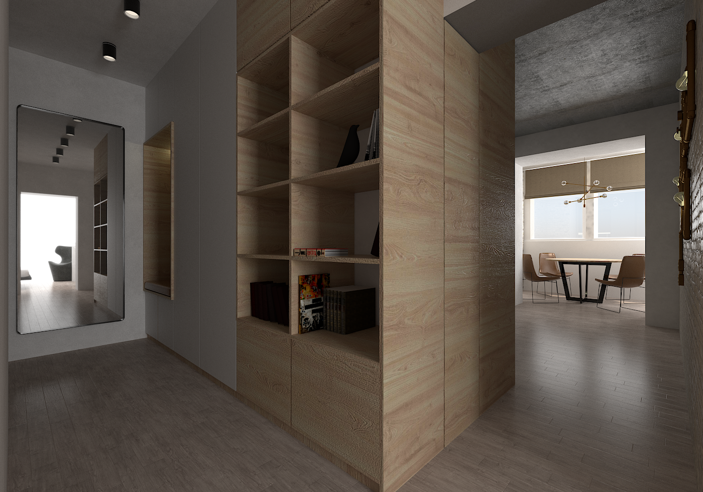 Small functional apartment