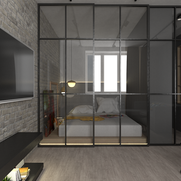 Flat with LOFT elements -