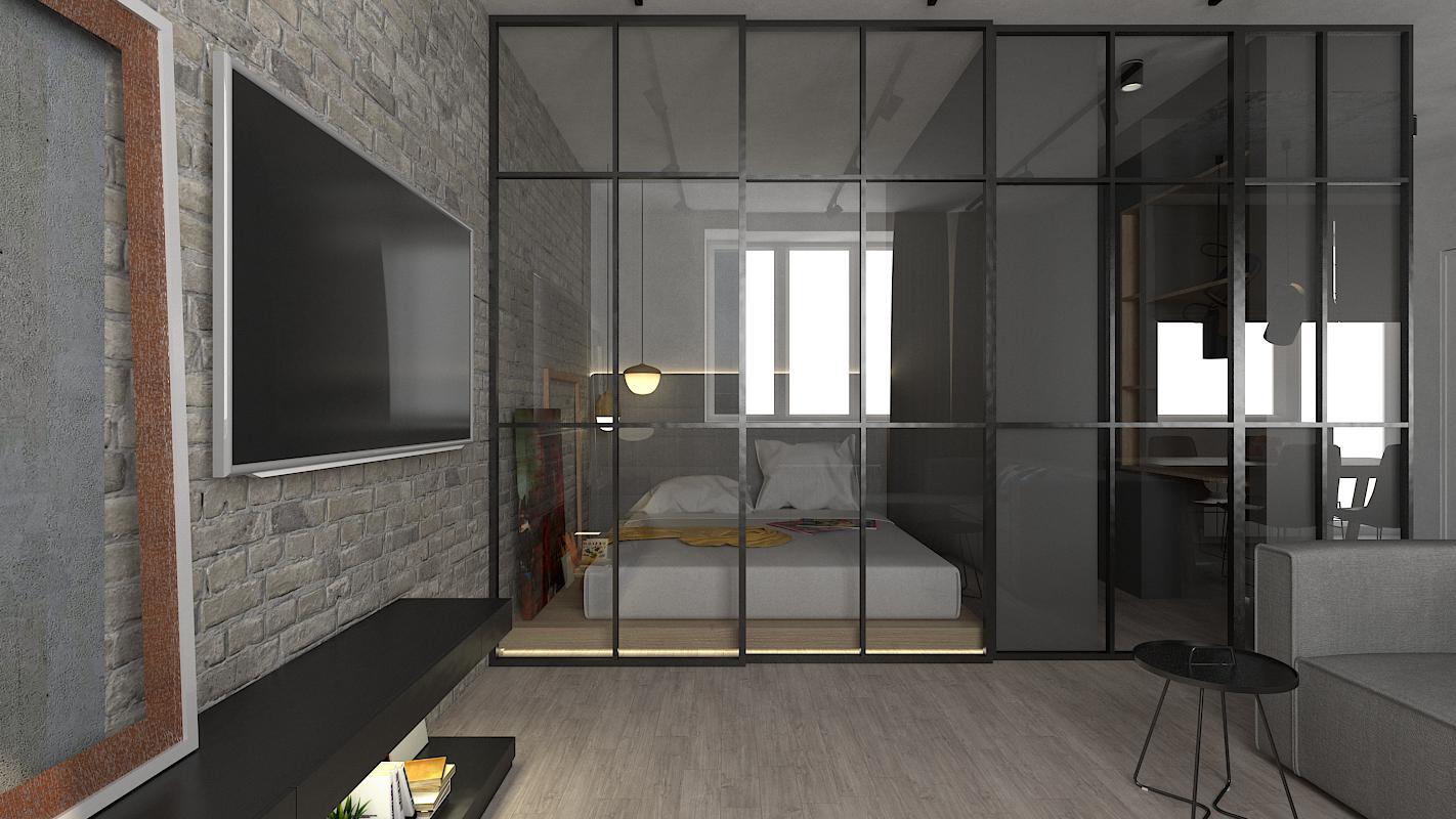Квартира с элементами LOFT