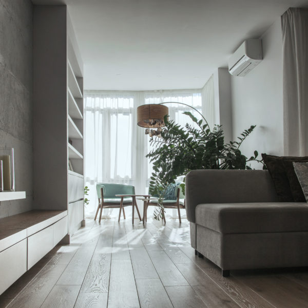 Comfortable minimalism, all shades of gray -
