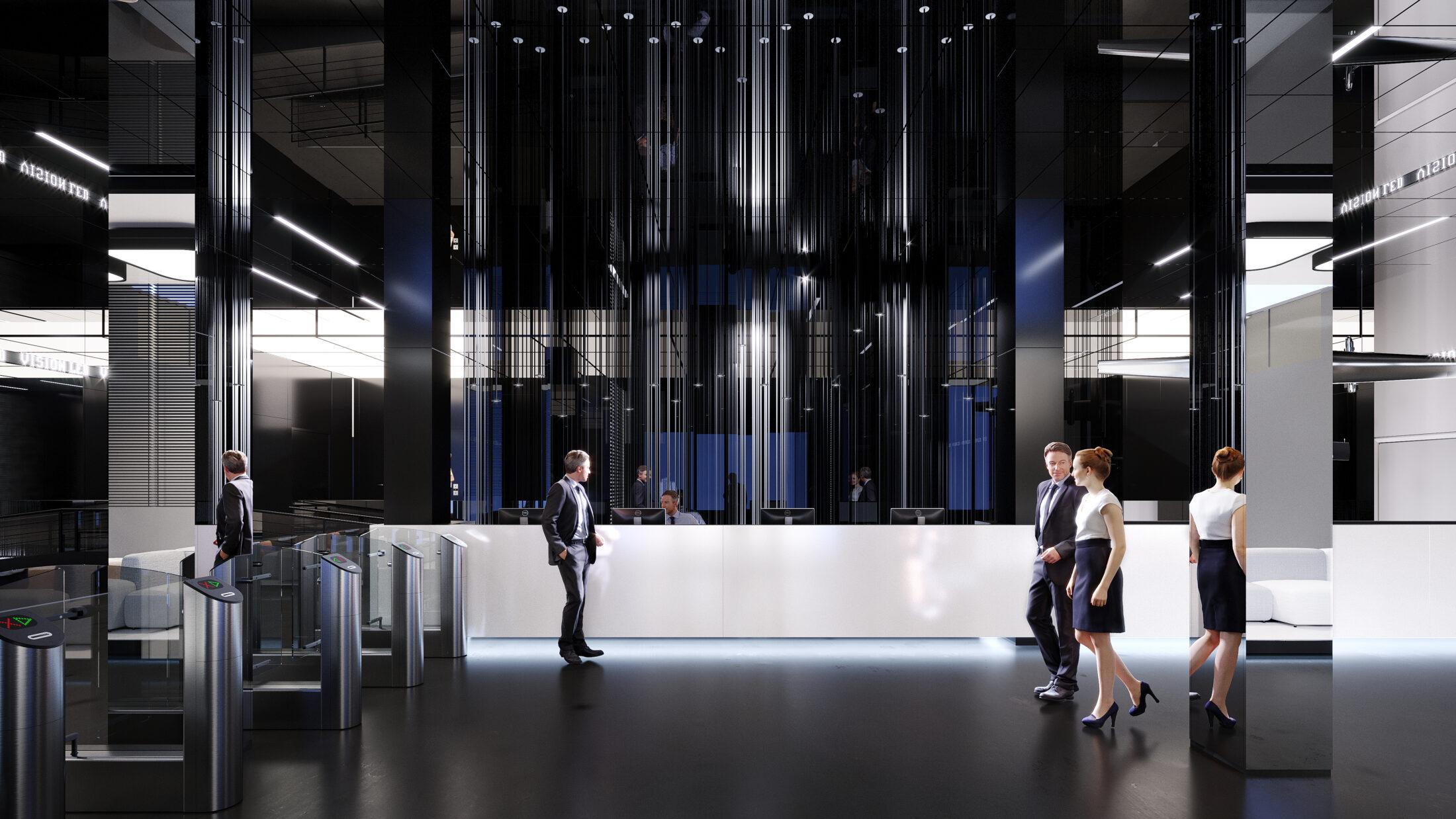 Дизайн інтер'єру холу в бізнес центрі